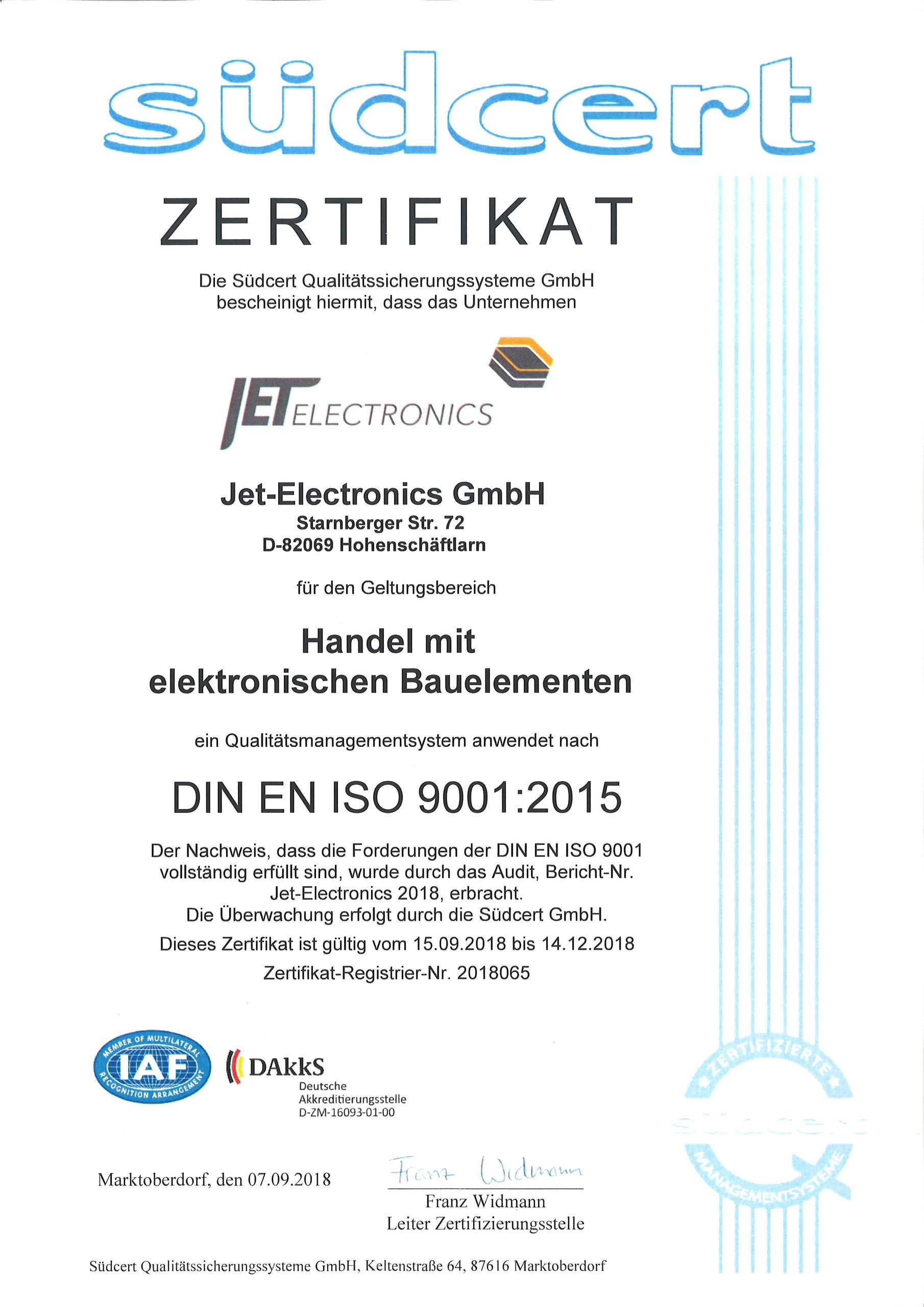 ISO Deutsch - gültig bis 14.12.18